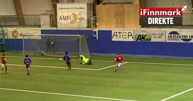 Eskil Aleksandersen punkterer kampen etter 82 minutter. 4-1