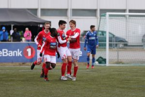 Marko Radulovic scorer mål nr 2. Foto: Lars Christian Hansen